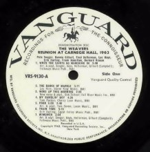VRS-9130 - Weavers : Reunion at Carnegie Hall, promo label