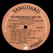 VSD-79174 - Celebrations; Record Club label - 1FA