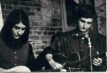 Muldaur with Mimi at Club 47, Feb. 1966. Photo by Dick Waterman