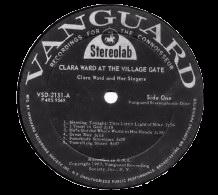 Vanguard VSD-2151, Clara Ward : At the Village Gate