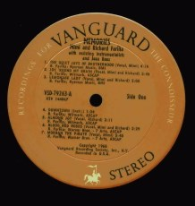 Vanguard VSD-79263, Mimi & Richard Farina : Memories
